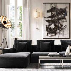 Klaus Modular End-of-Sectional Ottoman Living Room Interior, Home Living Room, Living Room Decor, Interior Livingroom, Bedroom Decor, Luxury Decor, Modular Sofa, Home Hardware, Sectional Sofa
