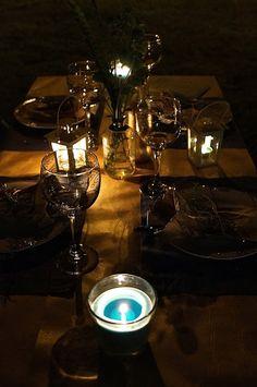 Jantarzinho ao ar livre e a luz de velas por Projetos Inventivos