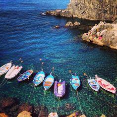 Cinque Terre Italy: sunbathed on those rocks