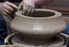 Tony Clennel   How to throw big pots without much muscle. Wow great idea to try here