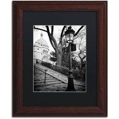 Trademark Fine Art Montmartre France Canvas Art by Philippe Hugonnard, Black Matte, Wood Frame, Size: 16 x 20, White
