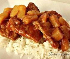 porc in sos dulce acrisor Martha Stewart, Carne, Waffles, Bacon, Lunch, Meat, Cooking, Breakfast, Mariana