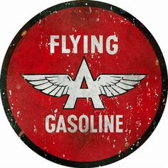 Flying A Gasoline, 18 x 18 Aged Style Large Aluminum Metal Sign, USA Made Vintage Style Retro Garage Art by HomeDecorGarageArt on Etsy Garage Art, Man Cave Garage, Garage Signs, Garage Ideas, Retro Poster, Vintage Posters, Pompe A Essence, Vintage Gas Pumps, Motorcycle Posters
