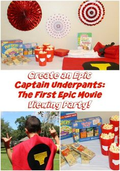 "Create an Epic ""Captain Underpants: The First Epic Movie"" Viewing Party with Movie Night Snacks and No-Sew Costumes!  #Pop4Captain #Pmedia #ad @popSecret @LanceSnacks @Walmart"