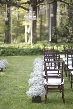 line aisle with boxed babys breath by der.kata