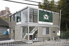 "Question image of ""container and prefabricated house. Strength and durability"" Tiny Container House, Container Shop, Container House Design, Container Office, Container Architecture, Container Buildings, Architecture Design, Modern Prefab Homes, Casas Containers"