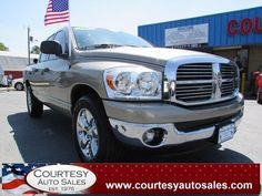2007 DODGE RAM 1500 -- Quad-CAB! -- LOOKS And DRIVES GREAT! -- Clean CAR-FAX! -- Price INCLUDES A 3 MONTH/3,000 Mile WARRANTY! -- CALL TODAY! * 757-424-6404 * FINANCING AVAILABLE! -- Courtesy Auto Sales SPECIALIZES In Providing You With The BEST PRICE On A USED CAR, TRUCK or SUV! -- Get APPROVED TODAY @ courtesyautosales.com * Proudly Serving Your USED CAR NEEDS In Chesapeake, Virginia Beach, Norfolk, Portsmouth, Suffolk, Hampton Roads, Richmond, And ALL Of Virginia SINCE 1976!
