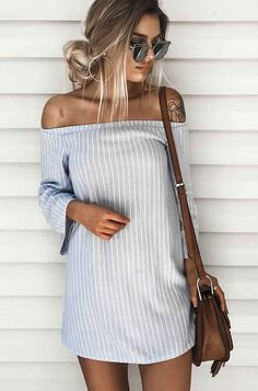 Off Shoulder Blue Blouse Shirt