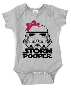 Star Wars Baby Onesie Storm Pooper Trooper Girl Shower Gift