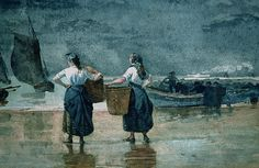 Fisher women by the sea Winslow Homer
