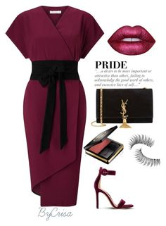 Untitled #728 by crisa-gloria-eduardo on Polyvore featuring polyvore fashion style Yves Saint Laurent Trish McEvoy Lime Crime Gucci clothing