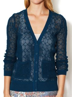 Open Weave Cardigan by Free People at Gilt