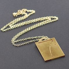 Number 7 Pendant Necklace Industrial Upcycled Brass by Tanith on Etsy  $28.00