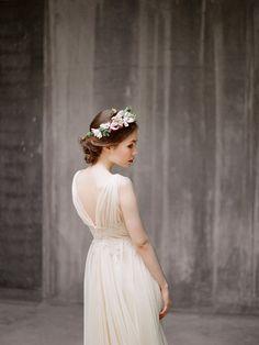 Zlata // Flowy airy wedding dress Chiffon by Milamirabridal
