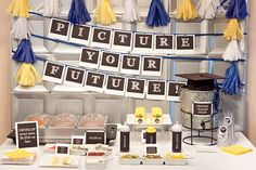 Cute for graduation @ PICTURE Your FUTURE Collection - Printable Party Décor. $20.00, via Etsy.