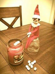 Candle cocktail stick mini marshmallows