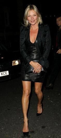Kate- black leather LBD