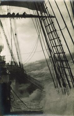 Tall Ship Sailing in the Strom  #sailing #tallship #storm