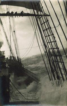 Tall Ship Sailing in the Strom  #sailing #tallship #storm