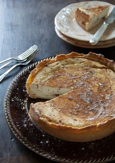 Sicilian Ricotta Pie - Judith's comment: as a child growling up in an Italian home...when we asked our grandmother to bake us a pie...this is what we had...we meant the cherry pie our friends had for desert after dinner... from the grocery store...oh never ever . when we grew up we realized how fortunate we were/are!