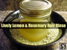 """Let's face it. We all want beautiful hair. It's certainly not called """"crowning glory"""" for nothing - it not only makes you look good; it also makes you feel good about yourself.   #Hair Rinse #Lemon #Rosemary"""