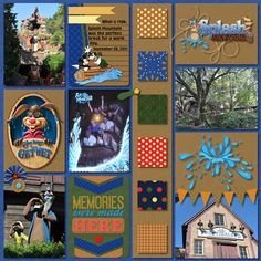 Splash Mountain - SS #163 Credits: Template by Chelle's Creations - In the Pocket {Strips} - Template 2 You May Get Wet by Mad For The Mouse Designs Cindy Schneider Set 160 Coordinating Cards Disney Simple Font