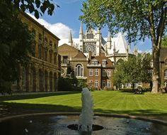 Fountain in the College Garden of Westminster Abbey in London