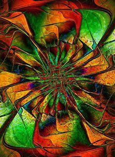 Leafy Spiral / Fractal art by Amanda Moore