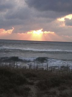 """'Show me the Sunshine' photo contest.  Photo submitted by Tori W.- """"Here comes the sun."""" #sunrise #CapeHatteras"""