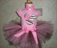 First Birthday Minnie Mouse tutu set
