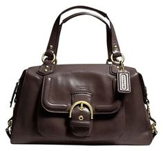Coach Campbell Leather Mahogany Brown Bag - Satchel $193