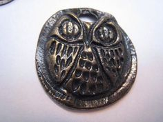 Rustic Vintage Wise Old Owl Handwrought Bronze by Glamaroni, $14.00