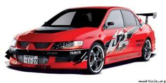 Mitsubishi Lancer Evolution from Fast and Furious Tokyo Drift