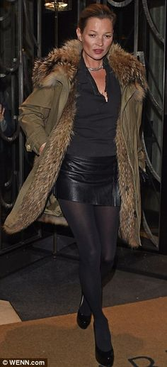 Copy Kate! Add a sexy finish to your look with a leather skirt #DailyMail