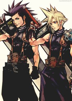 Zack and Cloud...I miss Zack so much :( He was by far my favorite
