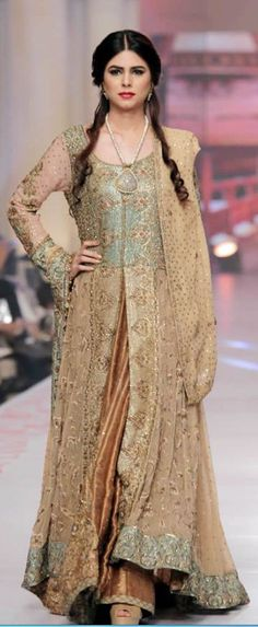 UMSHA BY UZMA BABAR COLLECTION AT TELENOR BRIDAL COUTURE WEEK 2015  #bridaldresses
