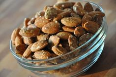 Wasabi Almonds - use soy sauce instead of water