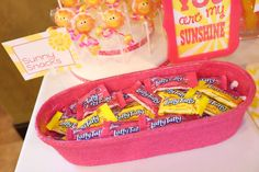 You Are My Sunshine Birthday Party Ideas Sunshine Birthday Parties, First Birthday Parties, Birthday Party Themes, Birthday Ideas, Pink Lemonade Party, Sunshine Baby Showers, Sunflower Baby Showers, Baby Girl Birthday, You Are My Sunshine
