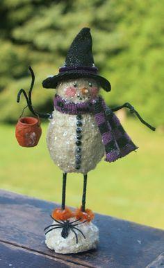 Nancy Malay's Victorian Whimsies sales page Halloween Miniatures, Halloween Doll, Halloween Ornaments, Halloween Cards, Holidays Halloween, Christmas Snowman, Handmade Christmas, Halloween Decorations, Christmas Crafts