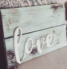Hand cut 3D LOVE Reclaimed Wood Sign Home Decor Gallary Wall by LoveMadeThisDecor