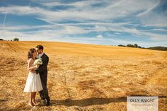 Cornfields are great for couple pics! Jamie & Lorna's Kent Wedding (September 2012)