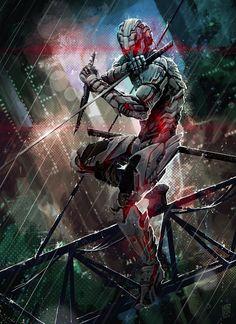 "Cybernetic Ninja Assassin by Jesús Campos Jiménez ""Nerkin"" on ArtStation Arte Ninja, Ninja Kunst, Ninja Art, Fantasy Armor, Sci Fi Fantasy, Dark Fantasy, Ronin Samurai, Samurai Art, Futuristic Armour"