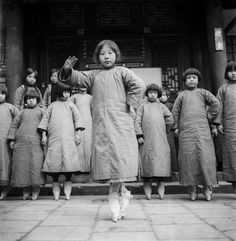 "Bound feet ""Sing-Song"" girls in training at a tea-house, China, 1930s by Ellen…"