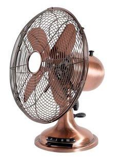 Nordal - Ventilator Antique fra HjemmeLiv.dk. Praktisk ventilator i metal med fod. Brug den i køkkenet, kontoret eller børneværelset på en varm sommerdag. Ventilatoren har 3 hastighedsinstillinger.