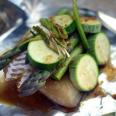 Steamed Shanghai Black Cod with Summer Vegetables, on the grill #recipe