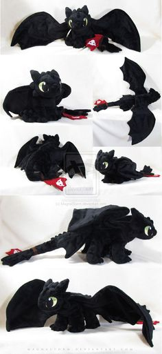 From MagnaStorm ...   How to train your dragon, toothless, night fury, dragon, plush toy