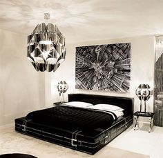 Wonderful Black And White Bedroom Decorating Ideas Pictures