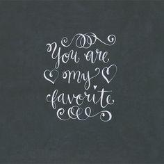 Fancy Chalkboard Lettering