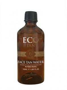 Eco Tan - Organic Face Tan Water (Suitable for oily and acne-prone skin) Organic Face Products, Organic Skin Care, Beauty Products, Organic Facial, Free Products, Natural Products, Organic Spray Tan, Organic Water, Fake Tan
