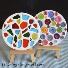 Toddler Activities: Create Pretty Coasters with Plaster of Paris Using a Mold